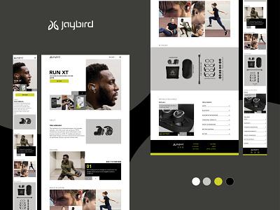 Jaybird Bluetooth headphones website spotify life mobile design webdesign responsive design music run bluetooth sport headphones