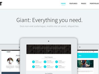 Giant - WordPress Premium Theme: Landing Page