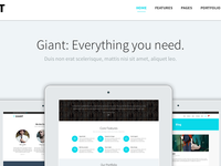 Giant - WordPress Premium Theme: Landing Page
