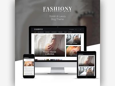 Fashiony | Stylish and Luxury Blog Theme css3 responsive creative blog fashion wordpress html5 themeforest elegant masonry