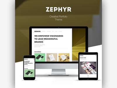 Zephyr | Creative Portfolio Theme masonry portfolio themeforest html5 wordpress fashion blog creative responsive css3