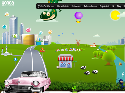 YNC redesign jquery animation html5 css3 land parallax