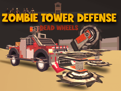 Zombie Tower Defense Mobil Game UI