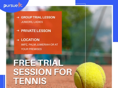 Free Trial Session for Tennis in Dubai
