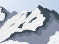snow-capped peak