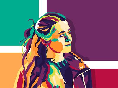 Portrait арт wpap портрет вектор illustration