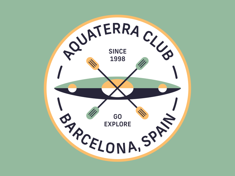Aquaterra Club Logo mountain adventure kayak outdoors logo