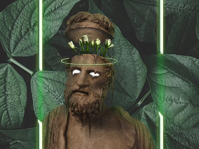Greek Nature green nature halo face vector illustrator illustration design animation art photoshop manipulation