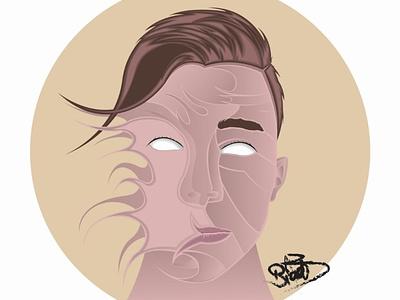 Self Portrait self portrait vector art designs illustraion line art color cartoon line vector illustrator illustration design art animation