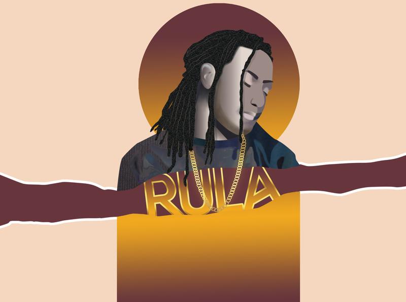 Rula Illustration illustration art gradient paint painting photoshop rula face color cartoon line art vector illustrator illustration design art animation
