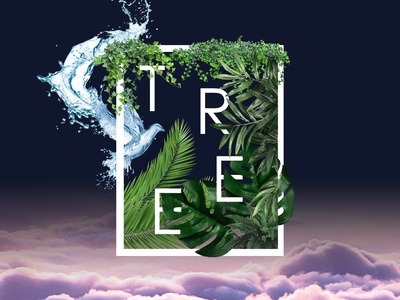 Tree art artist designs nature leaves manipulation tree photoshop color illustration design art