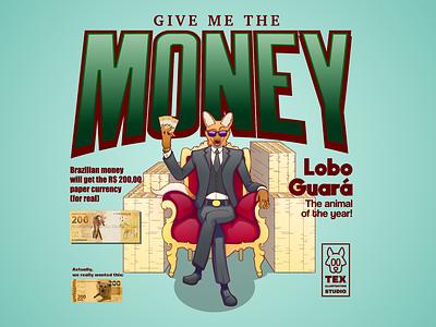 New Currency Paper money magazine creative character cartoon typography characterdesign design vector illustration