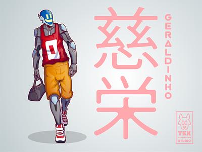 Geraldinho drawing creative character cartoon typography characterdesign design vector illustration