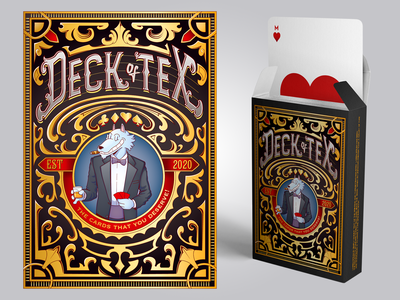 Deck of Tex cards deck drawing creative character cartoon typography characterdesign design vector illustration
