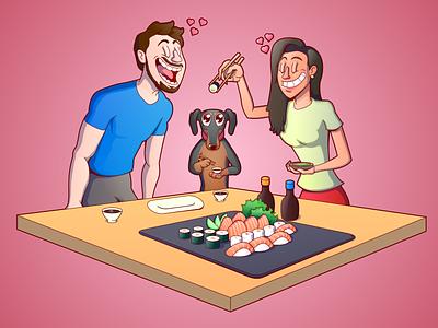 Beautiful Couple couples love character cartoon characterdesign design vector illustration