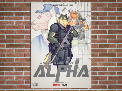Alpha Poster movie poster logo creative character cartoon typography characterdesign design vector illustration