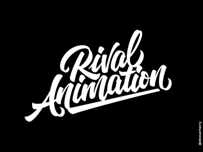 Rival Animation brushpen calligraphy logotypes lettering logotype