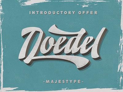 Doedel Typeface vintage majestype font typography fonts retro design brush grunge script