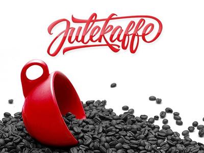 Julekaffe typography lettering brushpen fonts font dexsarharry majestype logo identity wordmark