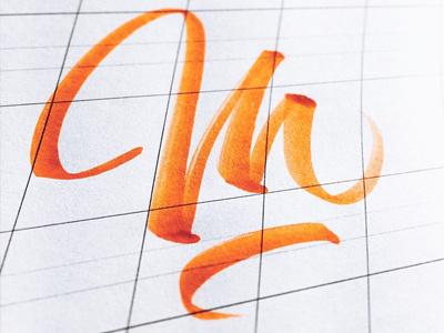 Favorite Letter! M typography lettering brushpen fonts font dexsarharry majestype logo identity wordmark brush lettering hand lettering