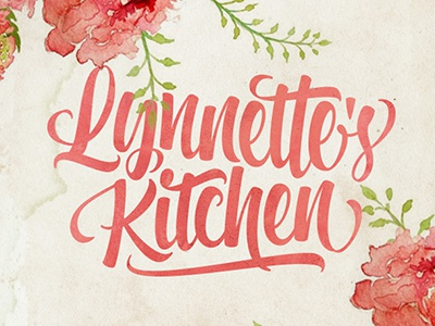 Lynnette's Kitchen Logo typography lettering brushpen fonts font majestype logo identity wordmark brush lettering hand lettering script