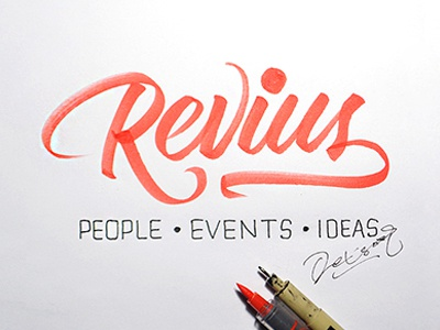 Revius Signature brushpen lettering typography calligraphy handlettering scripts font