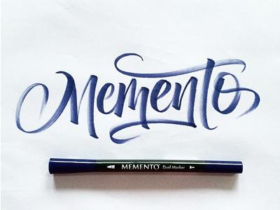 Memento Brushpen Testing font scripts handlettering calligraphy typography lettering brushpen