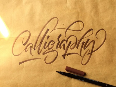 Calligraphy lettering font tipography brushpen calligraphy