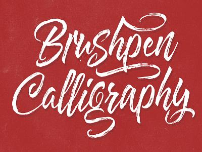 Brushpen Calligraphy typeface fonts lettering font tipography brushpen calligraphy