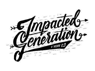 Impacted Generation dexsar majestype handlettering fonts font type lettering