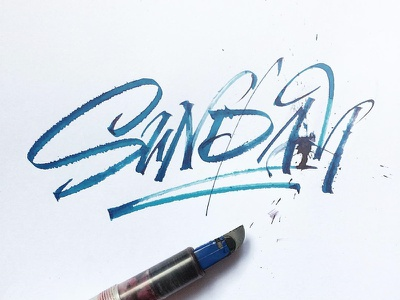 Sunday Calligraphy typography lettering rulingpen calligraphy