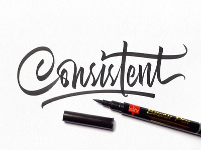 Consistent brushpen calligraphy typography typeface font fonts