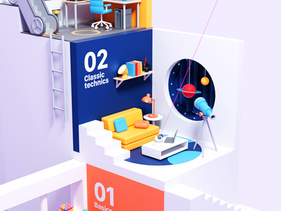 Three.js Journey : Second Level colors render 3d blender c4d octane illustration webgl