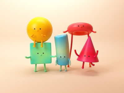 Getting started with 3D illustration character ueno primitives characters cute introduction 3d