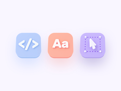 Specify : Icons icon ui design illustration color colors icons set icons 3d