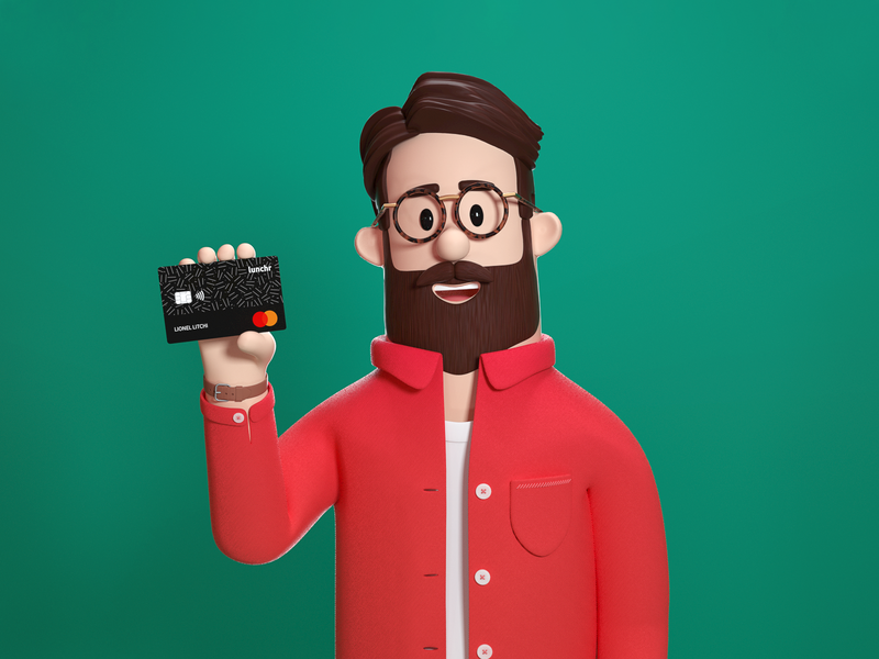 Lunchr Character : Paulo illustration c4d character design character 3d