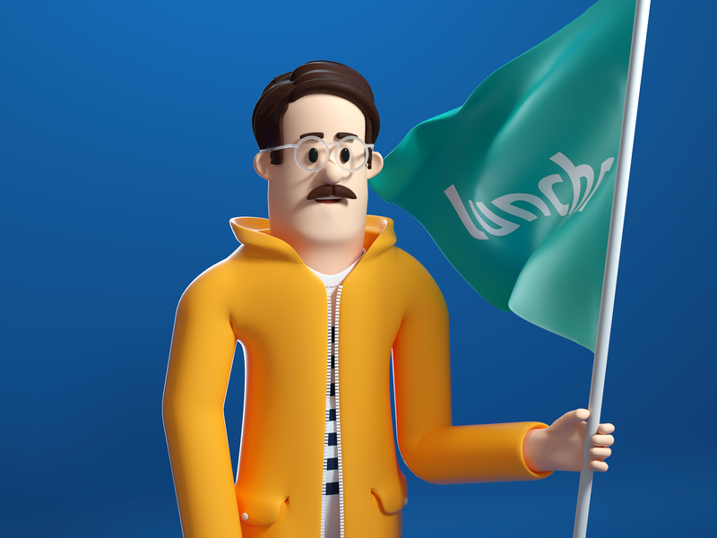 Lunchr Character : Martin illustration character design character c4d 3d