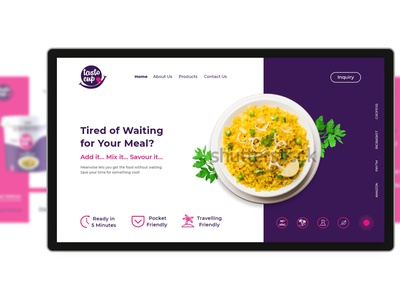 Ready to Eat Food Product website design wordpress website concept website design uiux