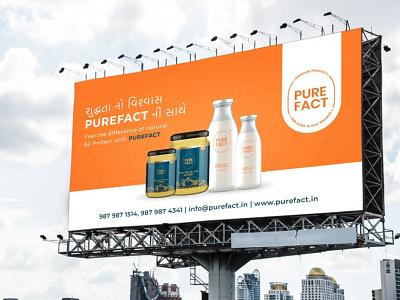 Dairy Product Hoarding Design design creative brandingagency branding milk