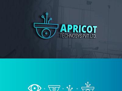 APRICOT TECHNOSYS PVT LTD - Logo Design icon typography illustration logodesign logo brandidentity design creative brandingagency branding