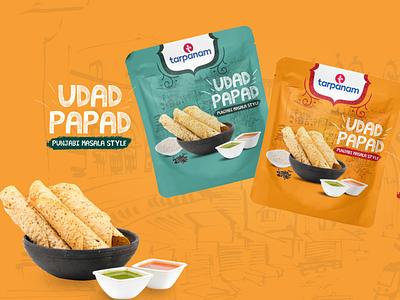 Tarpanam Foods - Papad Packaging Design packaging food illustration design creative brandingagency branding