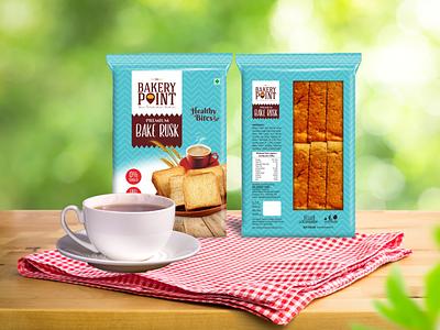 Bakery Point - Rusk Packaging Design packaging graphic design food illustration design creative brandingagency branding