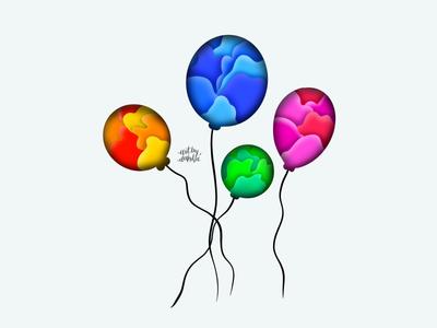 Balloons | Digital Illustration