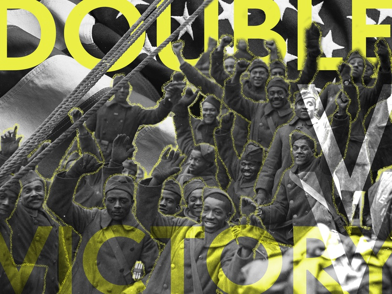 The Double V Campaign agency advertising illustration case study design doublevcampaign blackhistorymonth