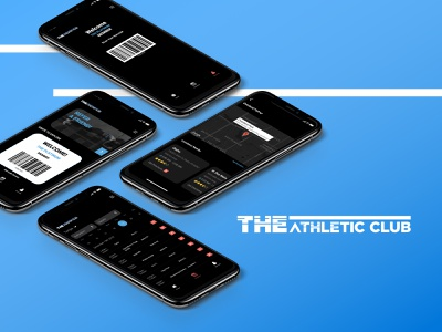 The Athletic Club Mobile App custom apps app designers digital schedule locations barcode mobile ui mobile gym app ux  ui mobile apps app design