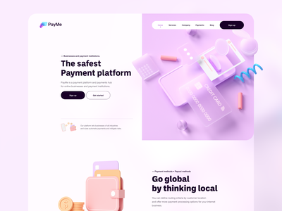 💸 PayMe - website web app bank baking payments payment banking uidesign product design minimal design ui ux interface website design webdesign