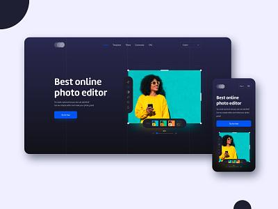 Online photo editor 📸 photo editing photo editor photo edit website design webdesign product design mobile uidesign interface ux ui