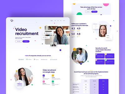 Video recruitment 👨💻 recruiting recruitment product design uidesign interface ui website design webdesign website
