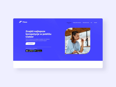 Flisoo - simple hompage animtion minimal app animation web website ux ui interface interaction design