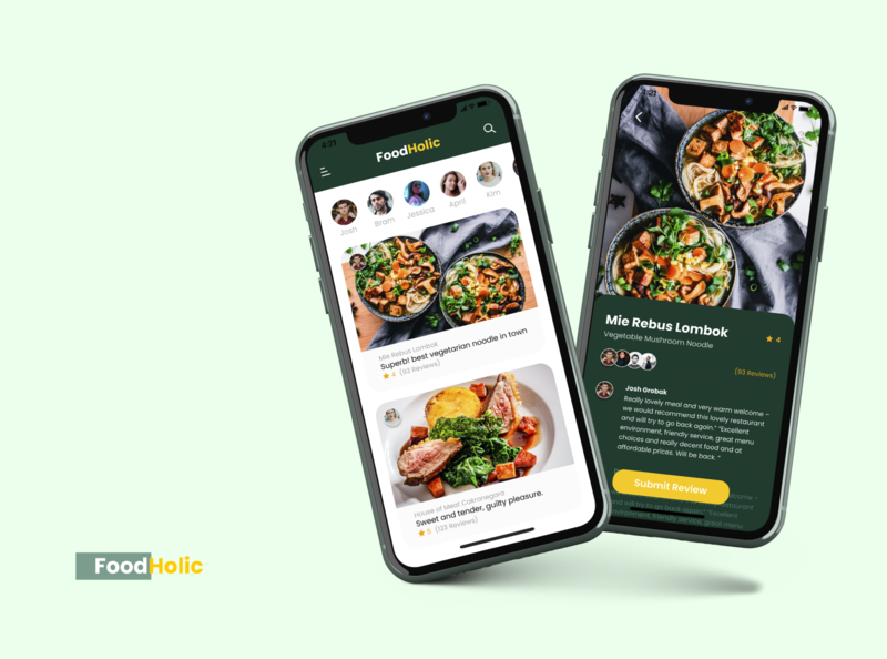 Food Reviewers App Exploration + Mockup branding icon userexperiencedesign userexperience ux ui design app